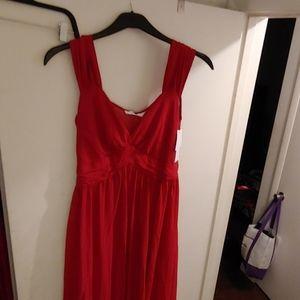 Red goddess dress size medium